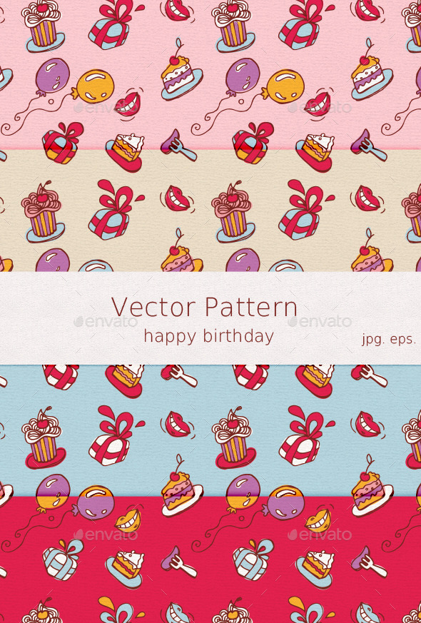 GraphicRiver Birthday Pattern 9913915