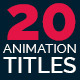 20 Title Animation - VideoHive Item for Sale