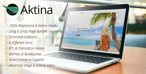 Aktina – Multi-Purpose WordPress Theme Aktina is a clean, super flexible, retina-ready and has a fully responsive design premium wordpress theme. This th