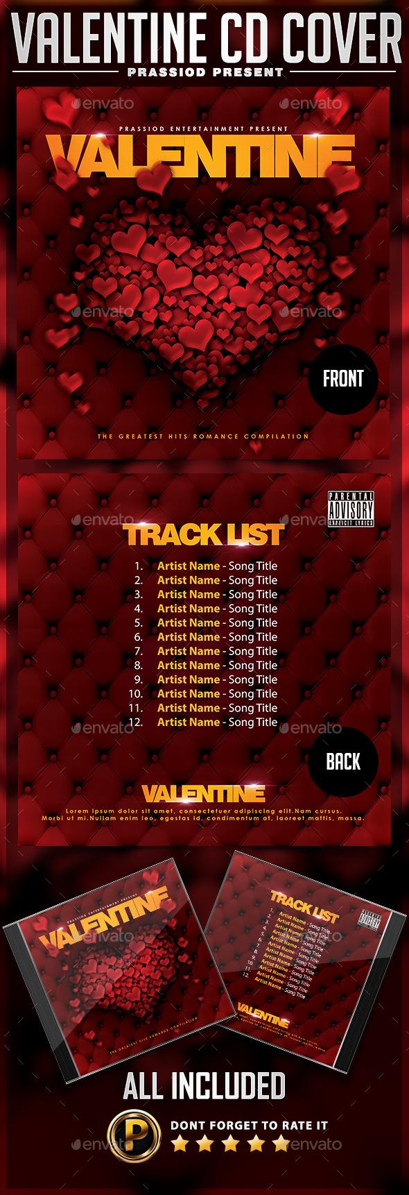 GraphicRiver Valentine CD Cover Template 9913972
