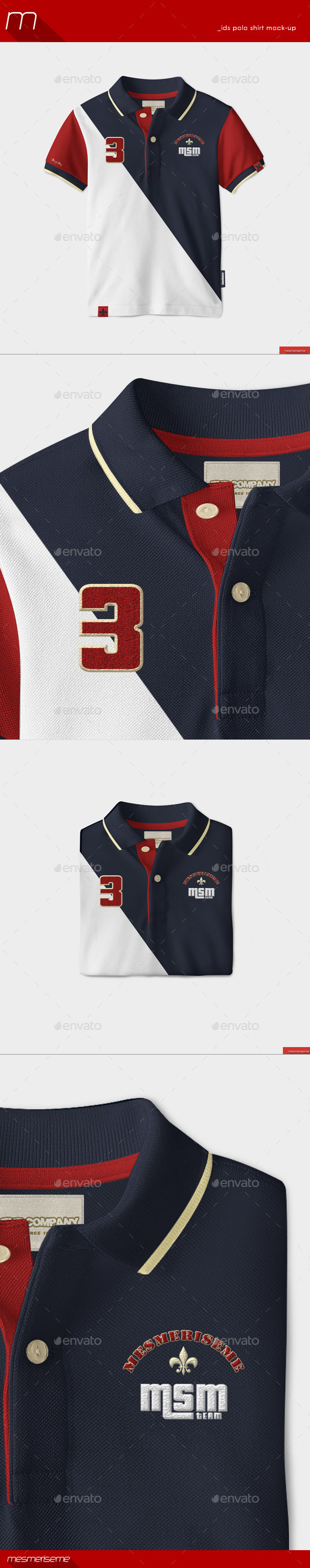 GraphicRiver Kids Polo Shirt Mock-up 9914007