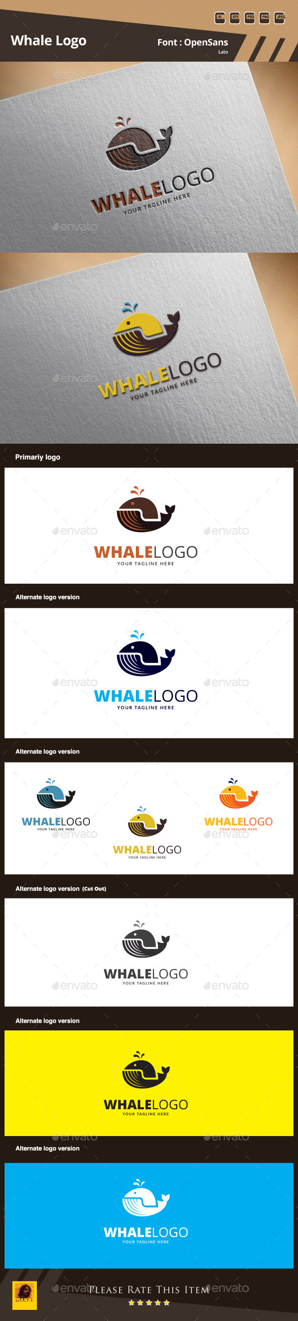 GraphicRiver Whale Logo Template 9914271