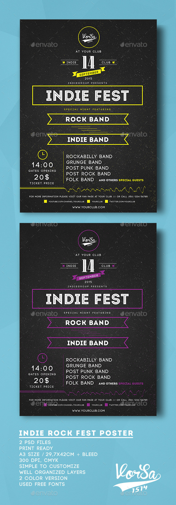 GraphicRiver Indie Rock Fest Poster 9876407