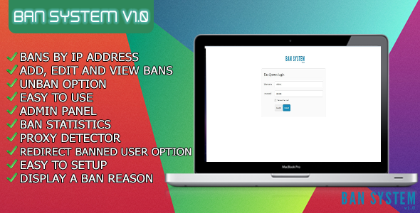 CodeCanyon Ban System Web Site 9893903
