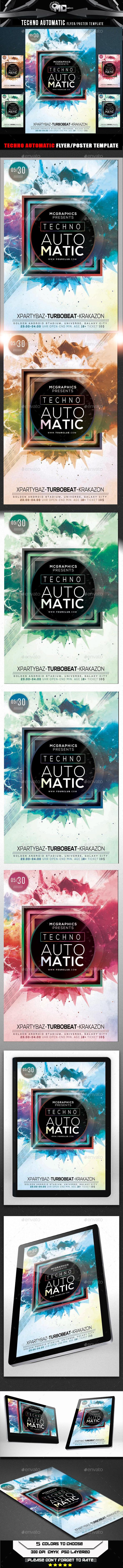 GraphicRiver Techno Automatic Flyer Template 9915356