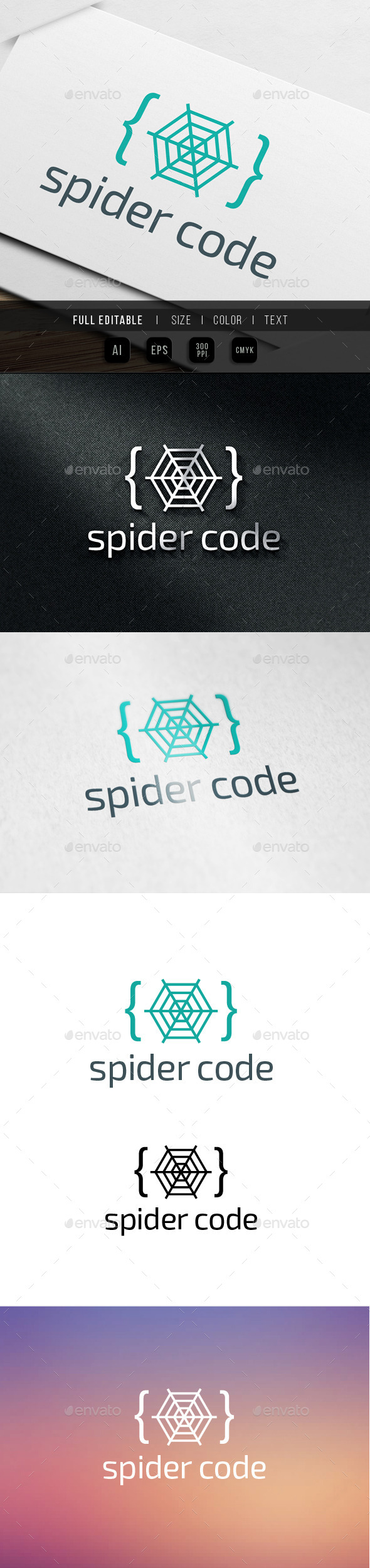 GraphicRiver Spider Code Logo 9915470