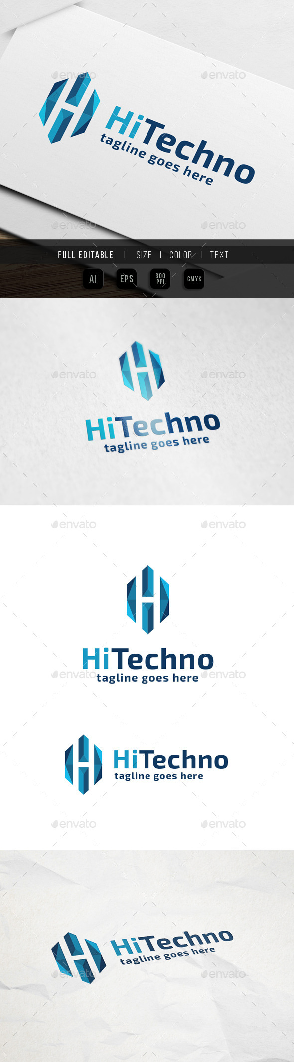 GraphicRiver Hi Tech Letter H 9915478