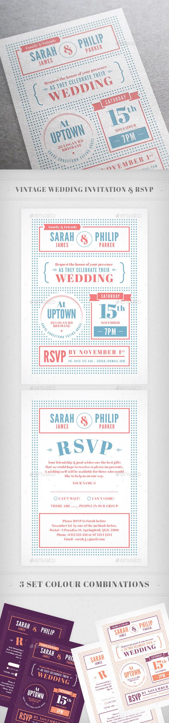 GraphicRiver Indie Wedding Invitation 9915908