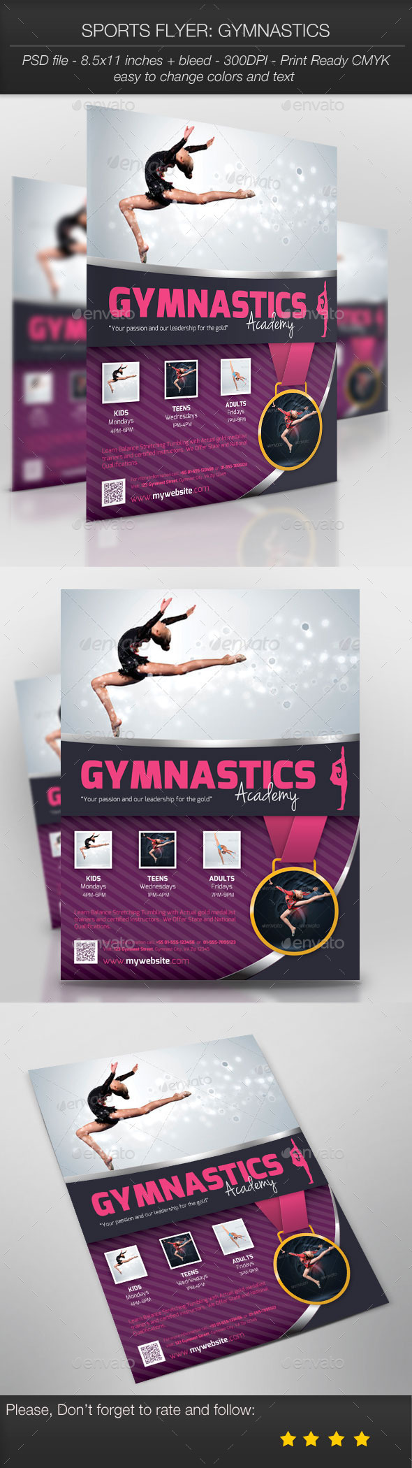 GraphicRiver Sports Flyer Gymnastics 9916016