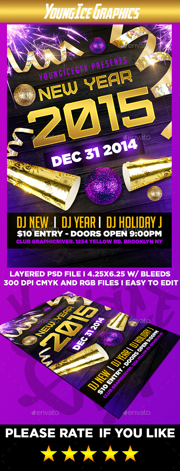 GraphicRiver New Year Flyer Template 9916316