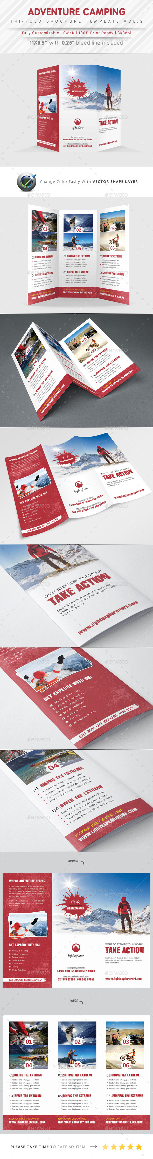 GraphicRiver Adventure Camping Tri Fold Vol.2 9916540
