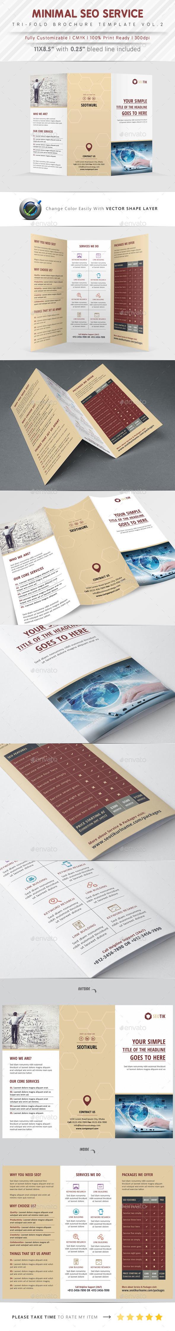 GraphicRiver SEO Service Tri Fold Vol.2 9916671