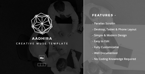ThemeForest Aadhira Creative Muse Template 9916975