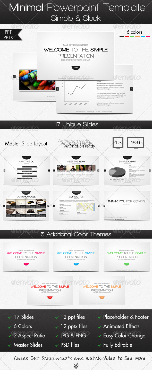 GraphicRiver Minimal PowerPoint Template 999736
