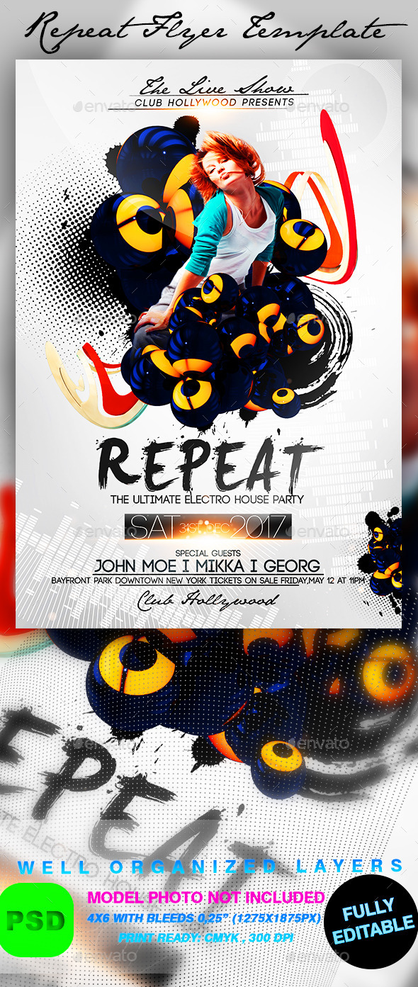Repeat Flyer Template