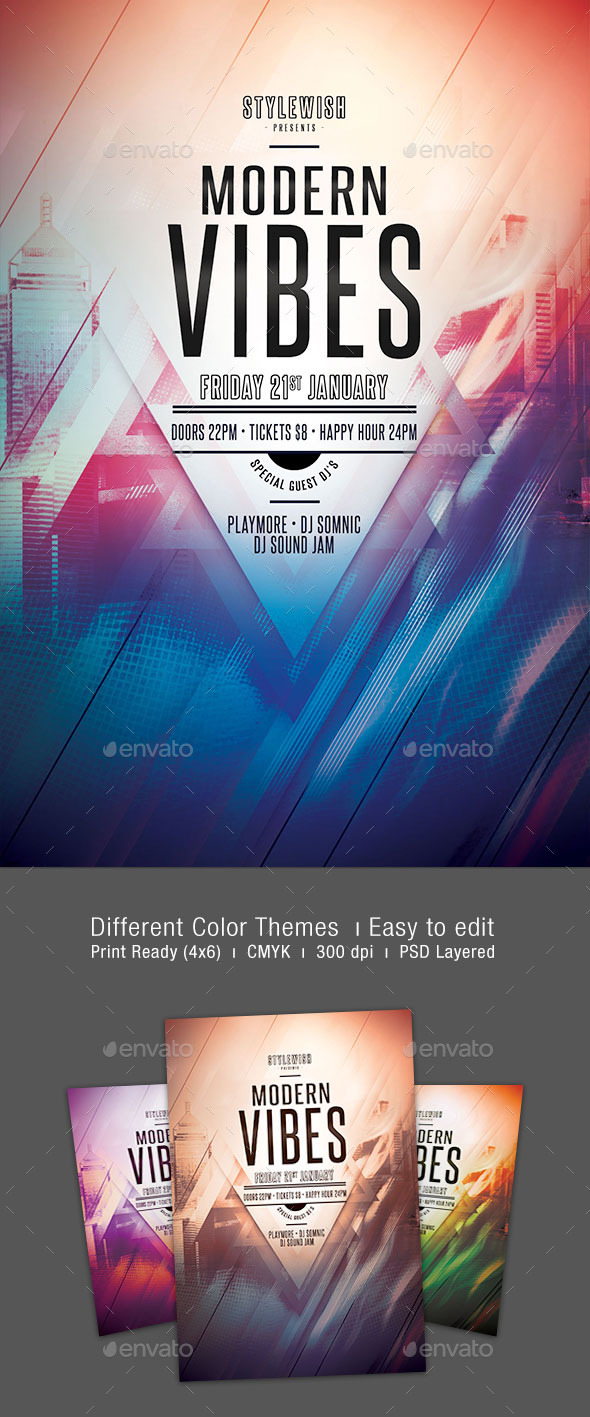 GraphicRiver Modern Vibes Flyer 9917203