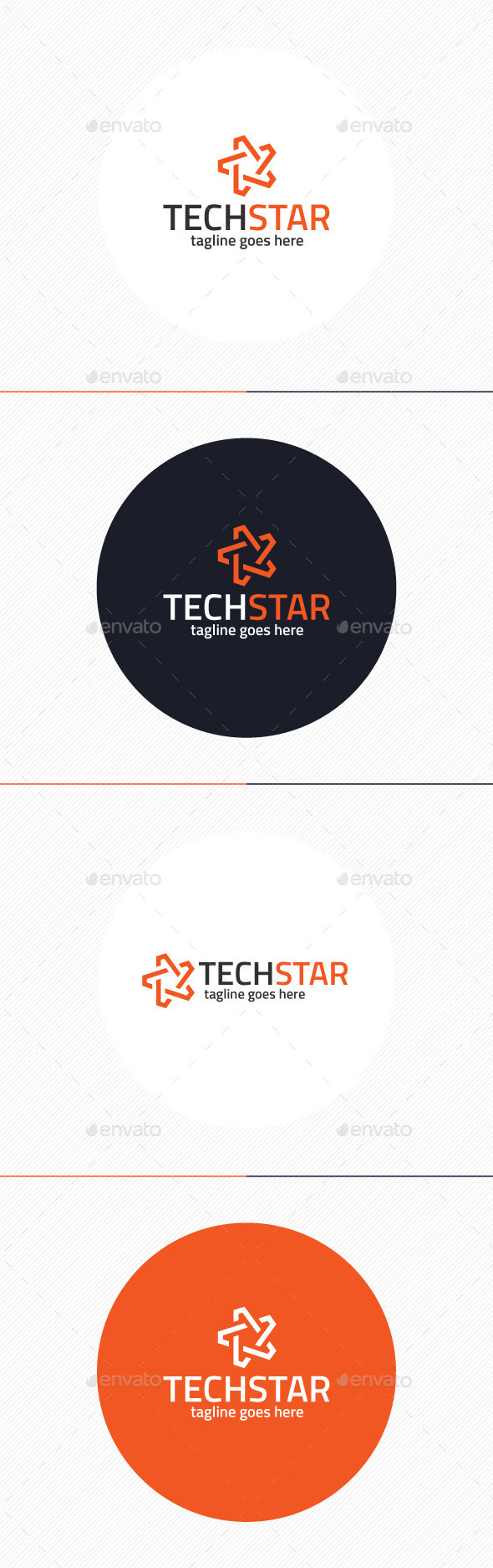 GraphicRiver Tech Star Logo 9917387