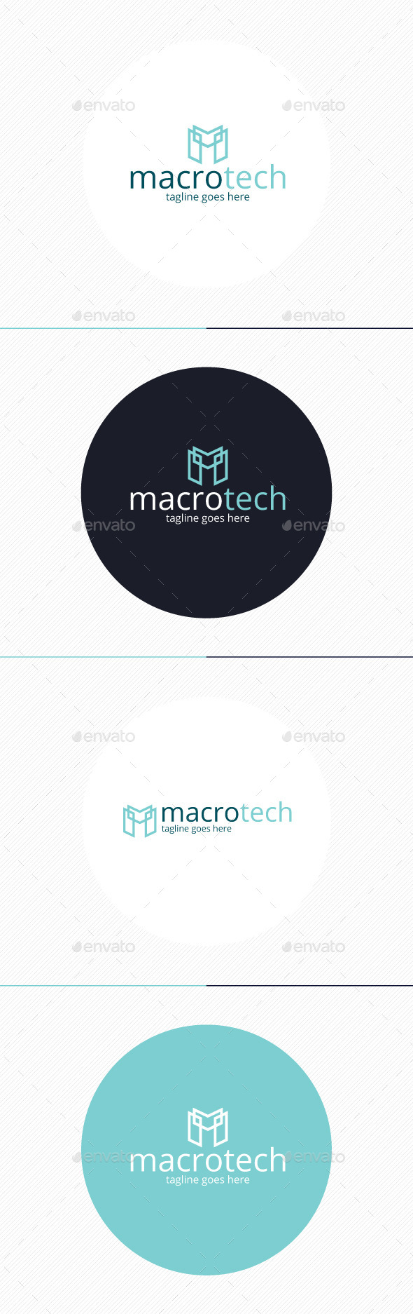 GraphicRiver Macro Tech Logo Letter M 9917489