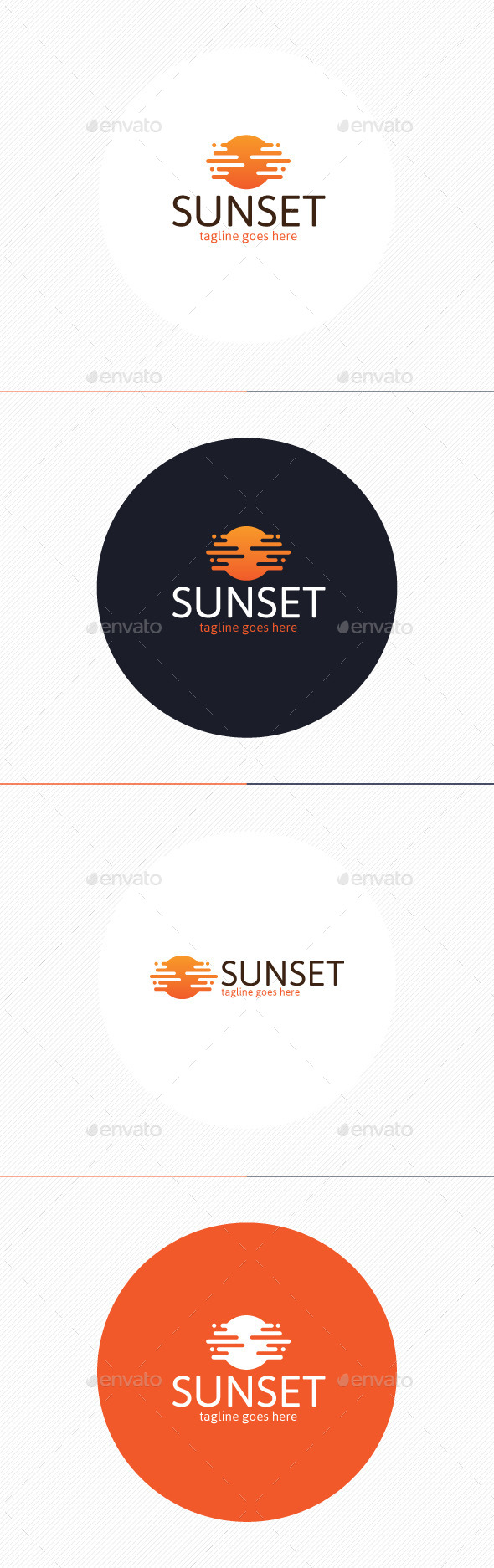 GraphicRiver Sunset Logo 9917937