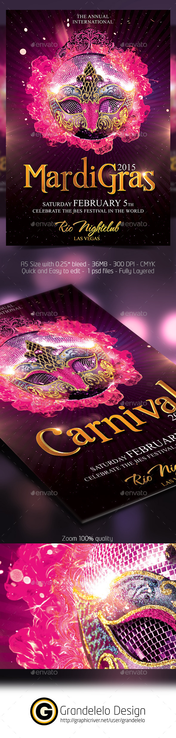 GraphicRiver The Carnival 2015 Flyer Template 9917972