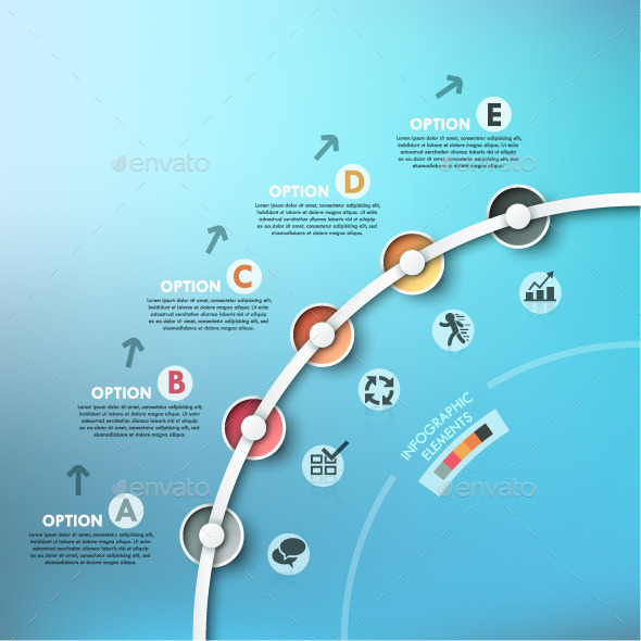 GraphicRiver Modern Infographics Process Template Timeline 9918230