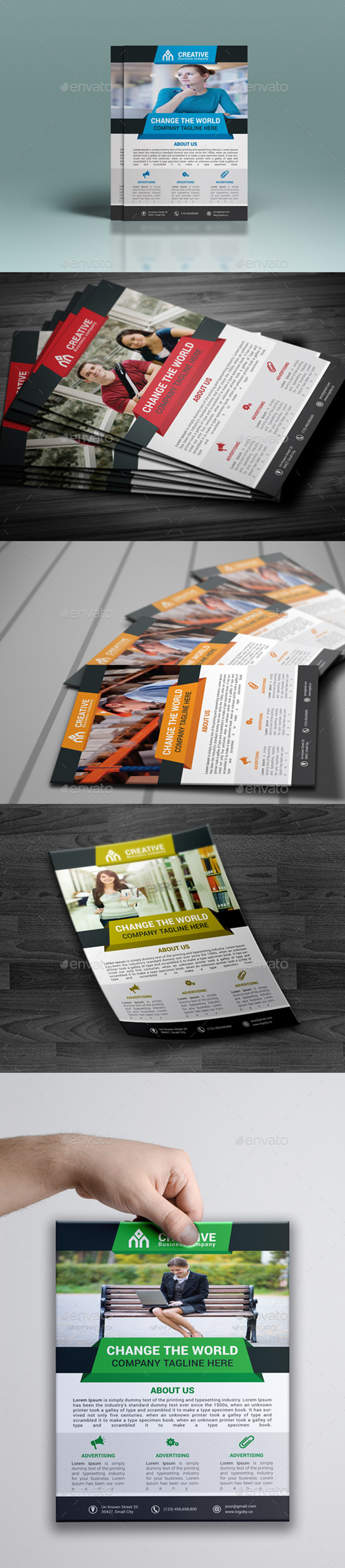 GraphicRiver Creative Corporate Flyer 9918273