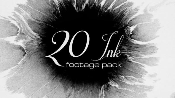 视频素材:20组2.5K电影级分辨率高质量中国风水墨动态素材20 Ink footage pack 免费下载