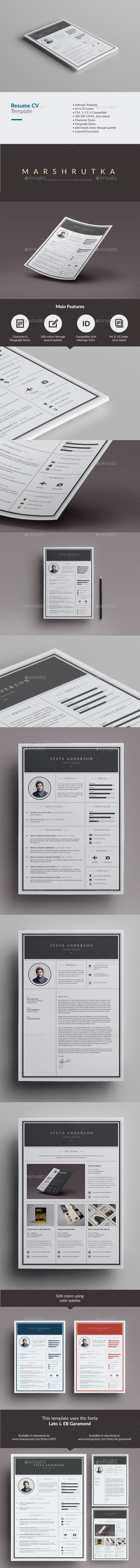 GraphicRiver Elegant Resume CV 9918309