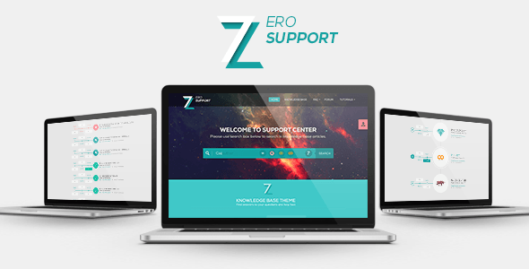 ThemeForest 7ZERO Support PSD Template 9918376