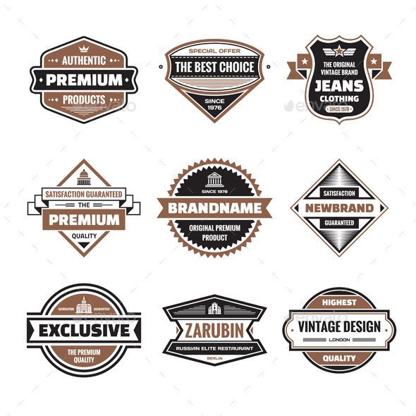 GraphicRiver 9 Labels & Badges Vector Set 9918505