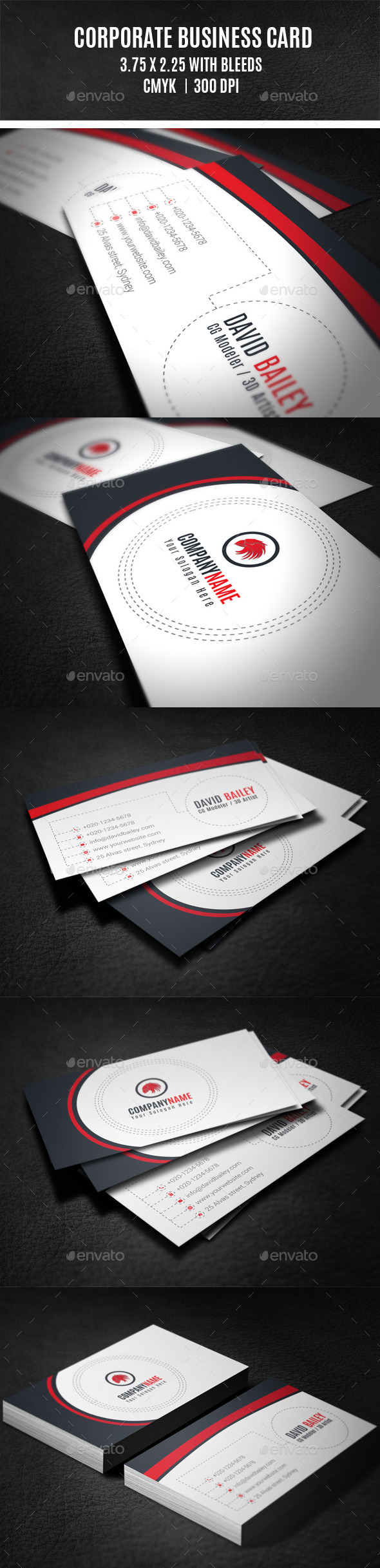 GraphicRiver Corporate Business Card 9918924