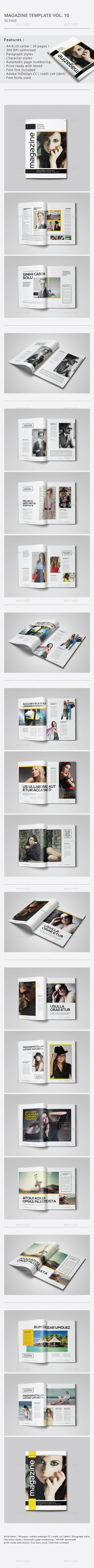 Indesign Magazine Template Vol.10
