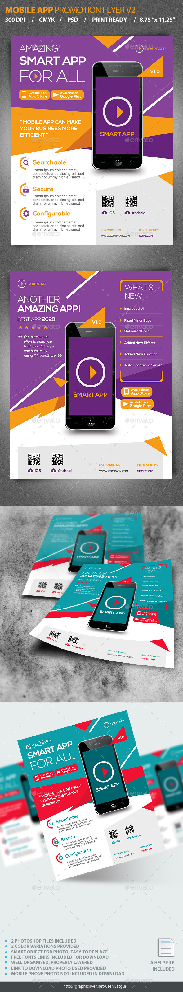 GraphicRiver Mobile App Promotion Flyer V2 9918948