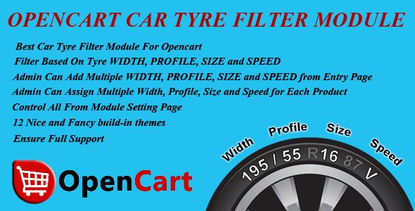 CodeCanyon Opencart Car Tyre Filter Module 9918993