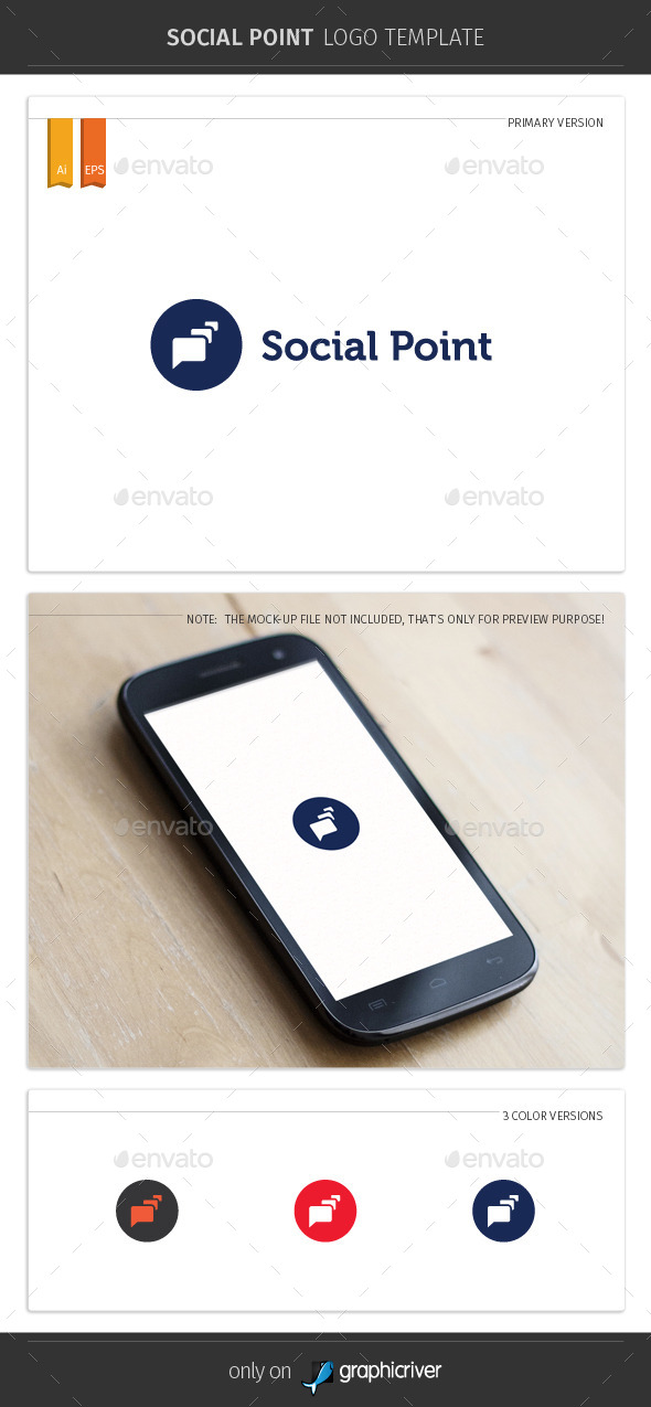 GraphicRiver Social Point Logo Template V2 9919002