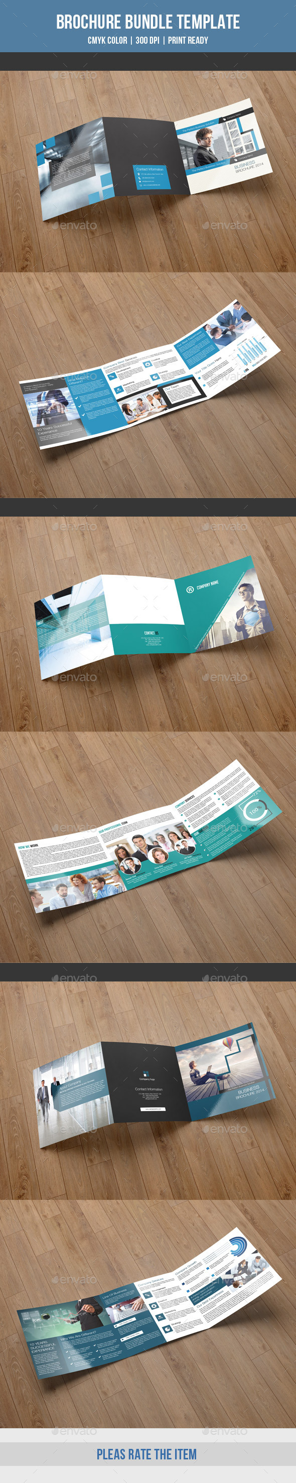 GraphicRiver Square Trifold Bundle-V01 9919009