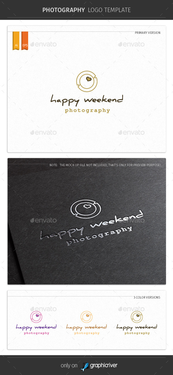 GraphicRiver Happy Weekend Photography Logo Template 9919030