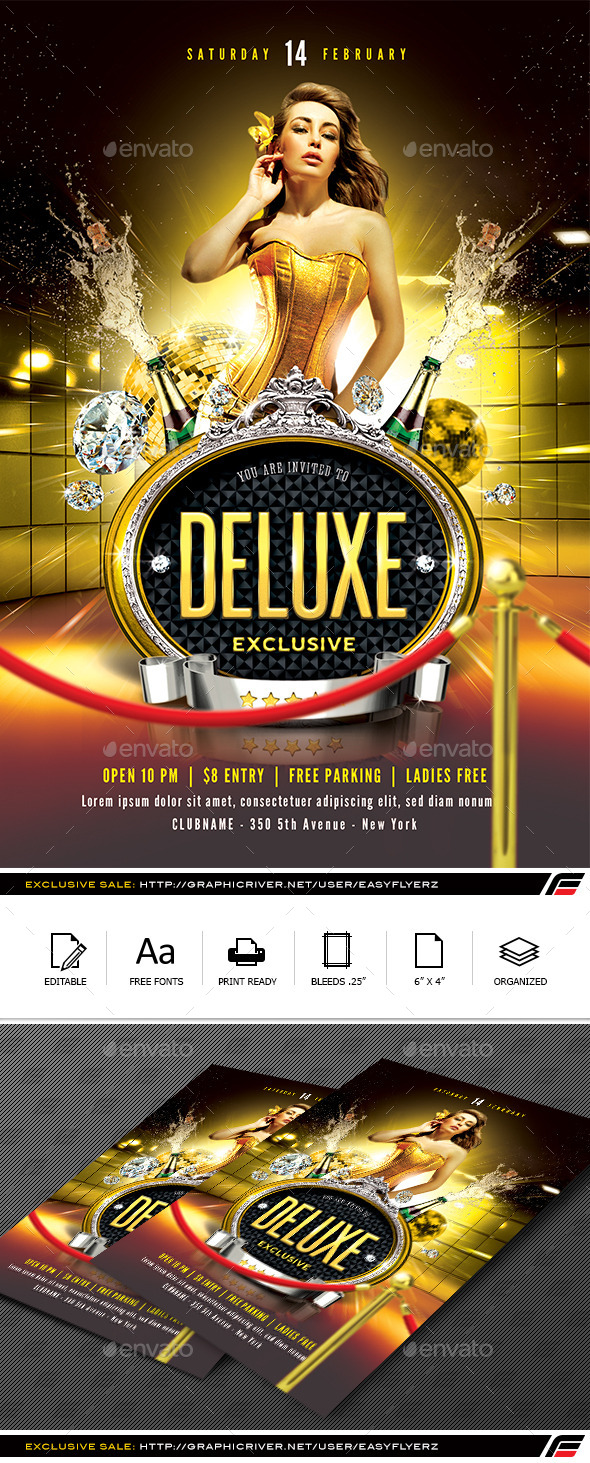 GraphicRiver Deluxe Exclusive Flyer Template 9876679