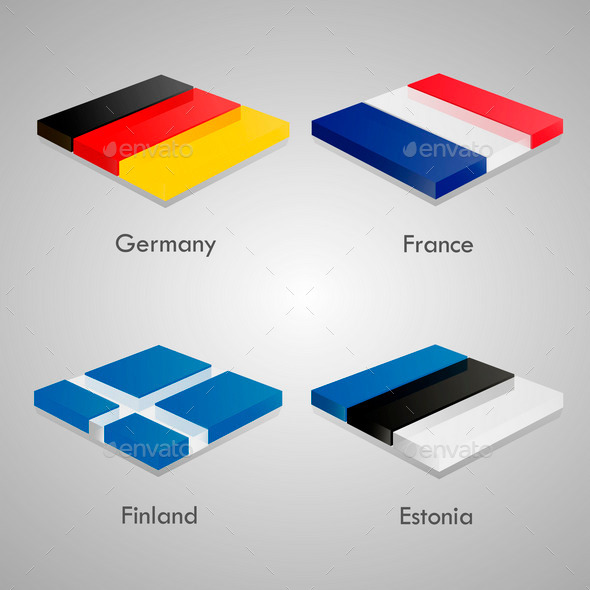 GraphicRiver European Flags Set 9919133