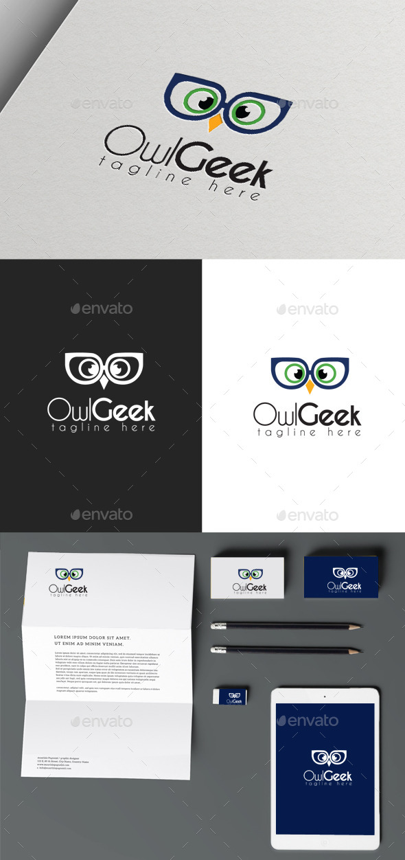 GraphicRiver Owl Geek 9919135
