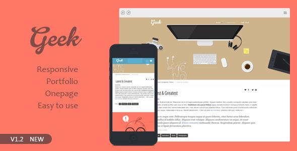 Geek Responsive Flat Portfolio WordPress Theme