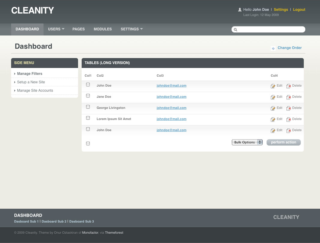 Cleanity Complete Admin / CMS Skin