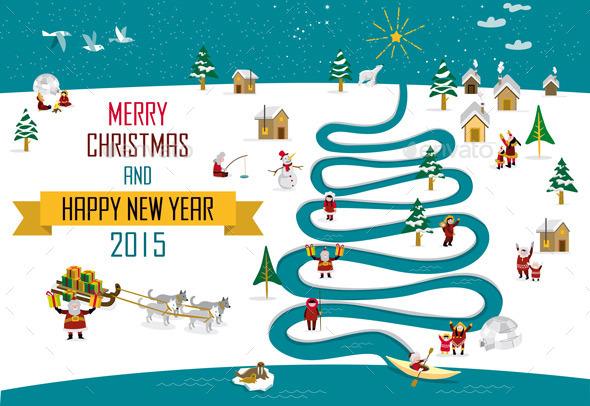 GraphicRiver Eskimos Christmas English 9919328