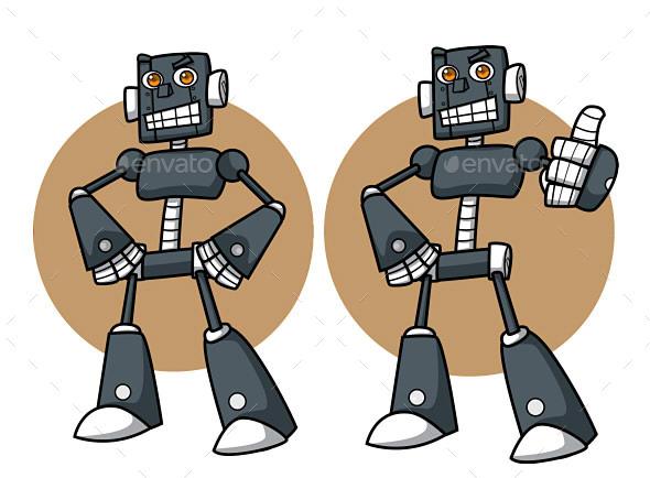 GraphicRiver Robot Mascot 9919453