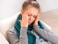 Headache. Young Woman having Headache - PhotoDune Item for Sale