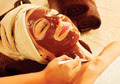 Spa therapy for young woman with chocolate mask at beauty salon - PhotoDune Item for Sale