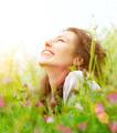Beautiful Young Woman Outdoors Enjoying Nature - PhotoDune Item for Sale