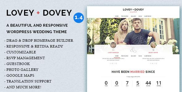 Lovey Dovey - Responsive WordPress Wedding Theme Download