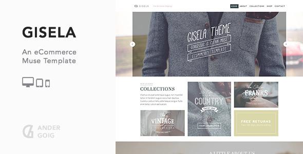 Gisela - eCommerce Muse Template
