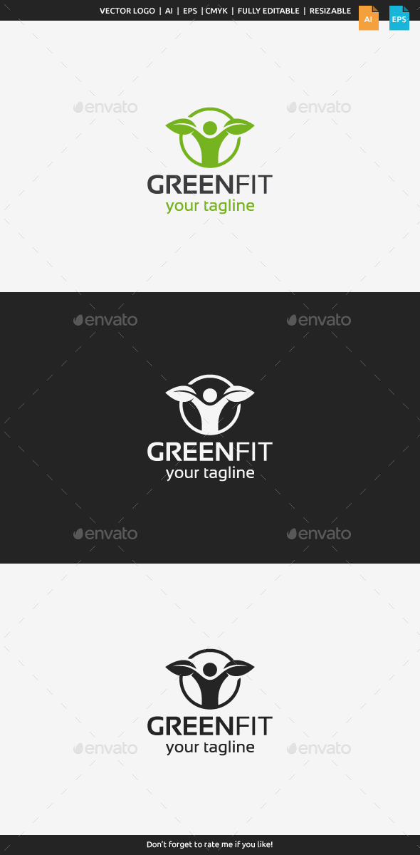 GraphicRiver Green Fit Logo 9919771